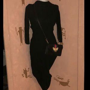 Zara long sweater dress size small black